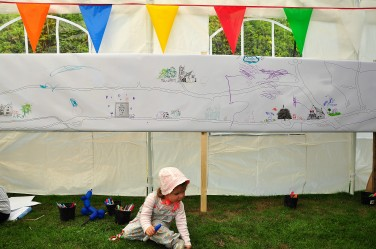 039 drawing in the children's tent